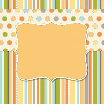 Cool template frame for greeting card