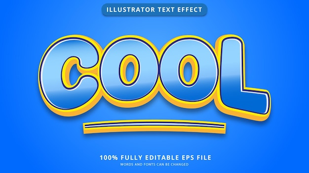 Cool text effect editable eps file
