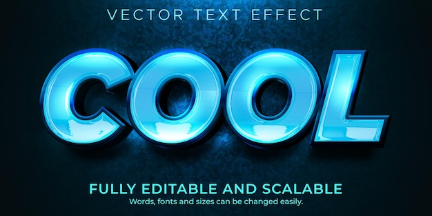 Cool text effect, editable shiny and elegant text style