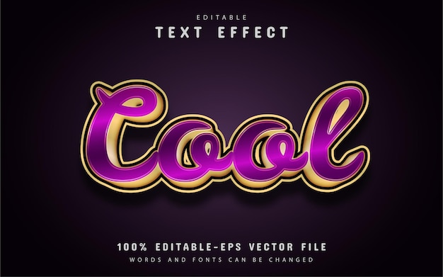 Cool text, gold purple text effect