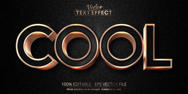Cool text, luxury rose gold editable text effect