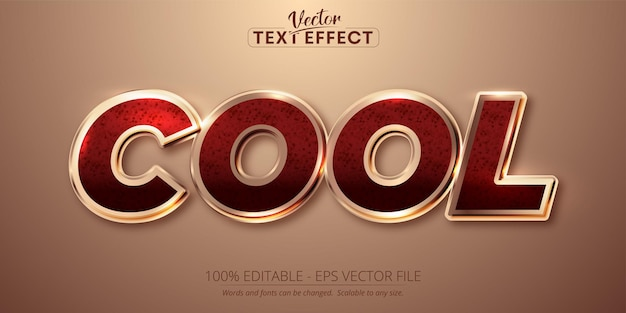 Cool text, shiny rose gold color style editable text effect