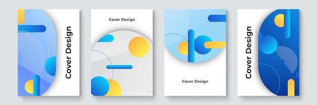 クールなトレンディなカバーデザイン。カラフルなモダニズム。最小限の幾何学的形状の構成。未来的なパターン。バウハウススタイルのデザインレイヤードベクトル