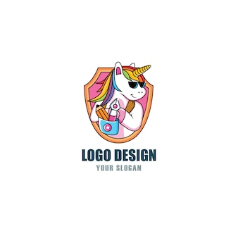 Cool unicorn logo