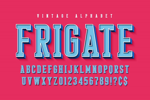 Cool vector 3d   of alphabet, typeface, font