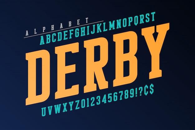 Cool vector retro   of alphabet, typeface