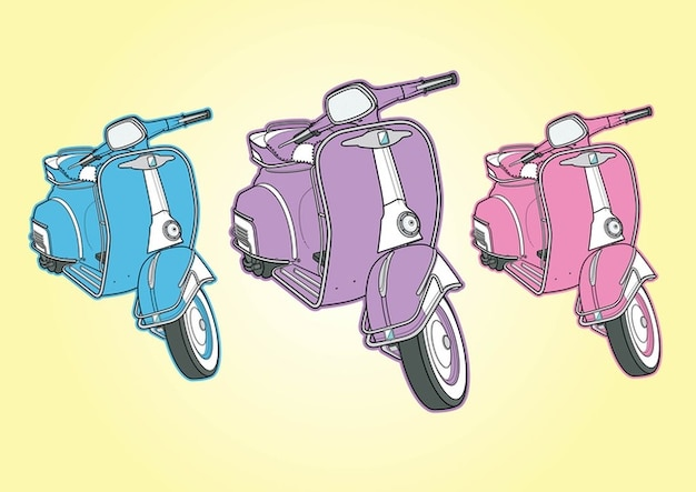 Cool vespa vectors
