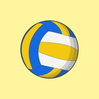 Cool volleyball sport illustration