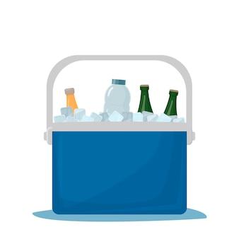 쿨러 가방 차가운 음료 휴대용 냉장고 자동차 냉장고 아이스 박스 음료 오픈 냉장고