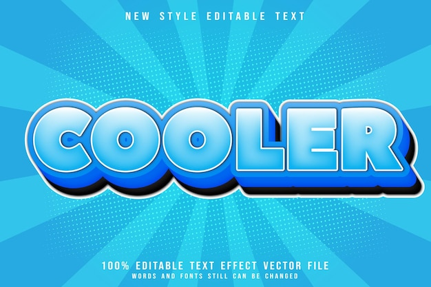 Cooler editable text effect emboss comic style