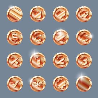 Copper coins set