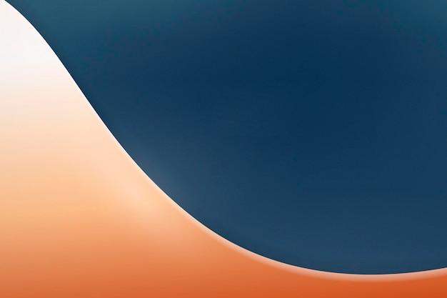 Copper curve on a dark blue background