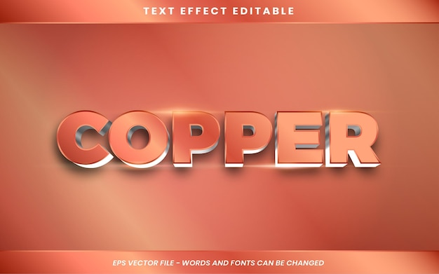 Copper text effect in 3d
