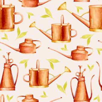 구리 물을 수 원활한 패턴 수채화