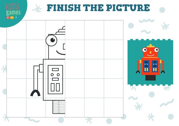 Copy and complete the picture vector blank game illustration preschool kids activity educational