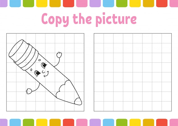 Copy the picture. coloring book pages for kids. education developing worksheet.