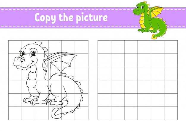 Copy the picture. coloring book pages for kids