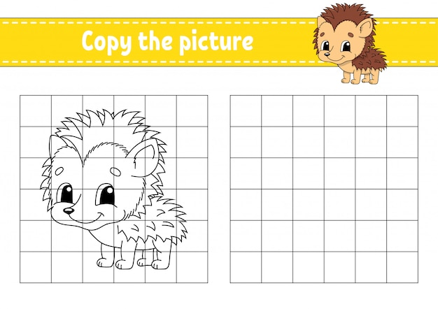 Copy the picture. hedgehog