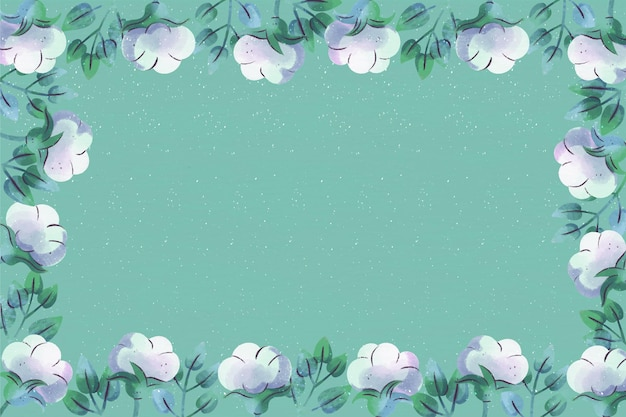Copy space blue floral background