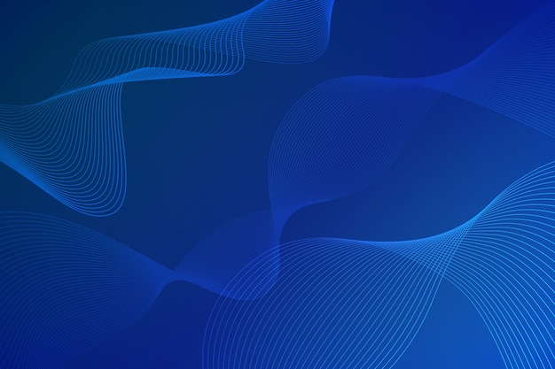 Copy space blue wavy shapes background
