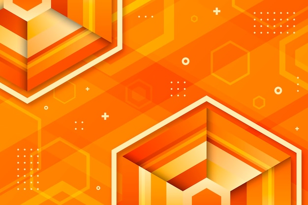 Copy space futuristic gradient geometric background