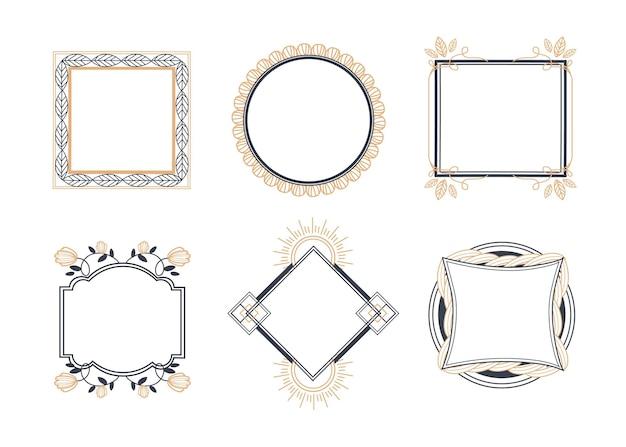 Копировать пространство декоративная рамка рисованной коллекции