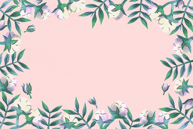 Copy space pink floral background