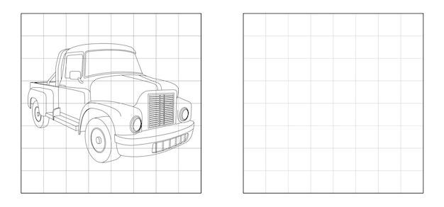 Скопируйте изображение мини-грузовика