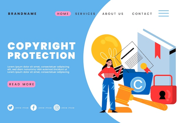 Copyright landing page template