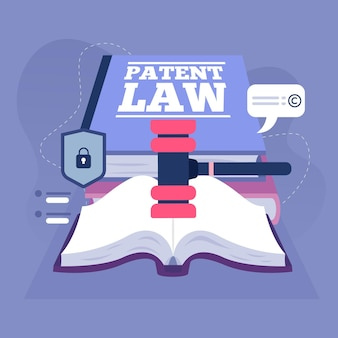 Copyright patent law illustration