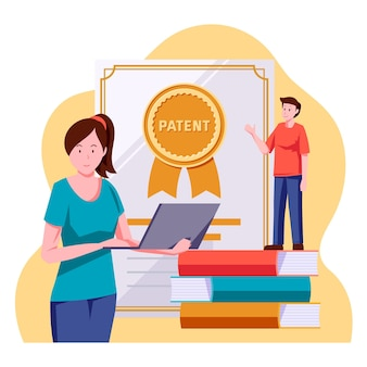 Copyright patent lay illustration