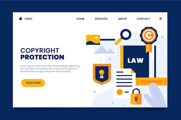 Copyright protection landing page
