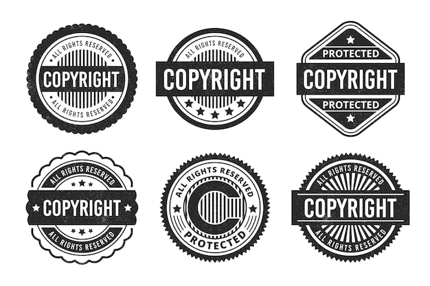 Copyright stamps collection