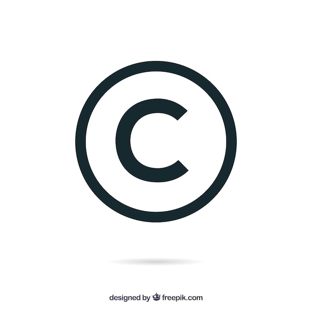 copyright vectors, photos and psd files free download Copyright Symbol copyright symbol in flat style