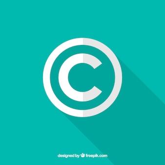 플랫 스타일의 저작권 기호