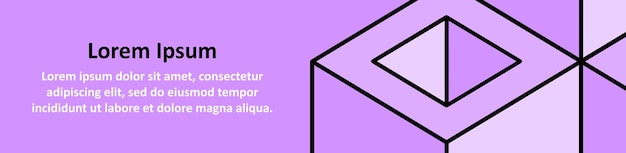 Copyspace purple background with abstract geometric cubes. site card or site header. vector illustration eps 10