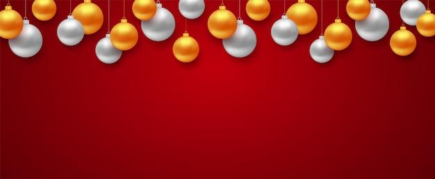 Copyspaceとクリスマスの背景