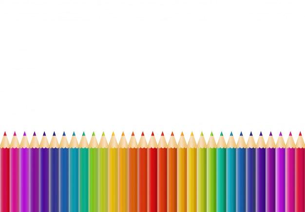 Copyspaceと抽象的な鉛筆の背景