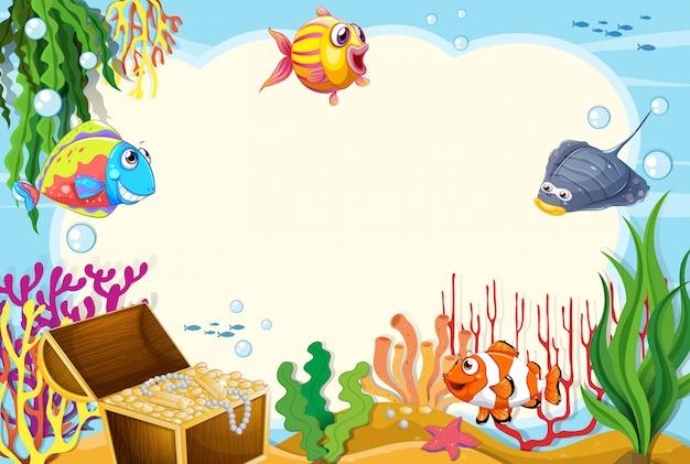 Подводное морское существо кадр copyspace