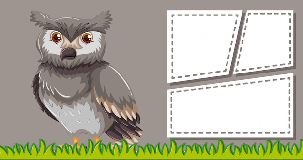 空白のcopyspaceと動物フレームテンプレートポスター