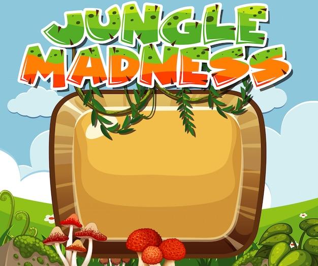 Вступление к игре, джунгли безумие с рамкой и copyspace