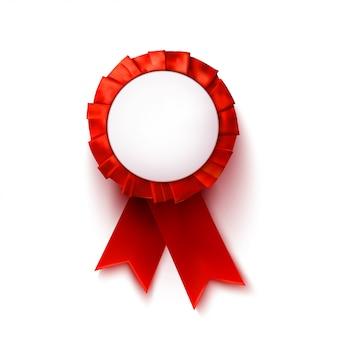 Красная медаль с пустым copyspace. элемент дизайна. векторная иллюстрация
