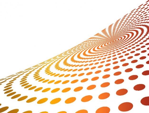 Точечный фон кругов перспективы и белый copyspace
