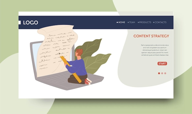 Copywriting and creative content strategy web