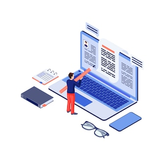Copywriting isometric vector illustration