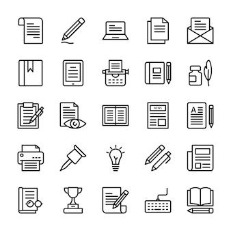Copywriting line icons pack
