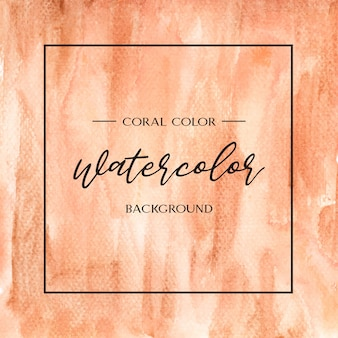 Coral color trendy sea shell watercolor and gold gouache texture background print wallpaper