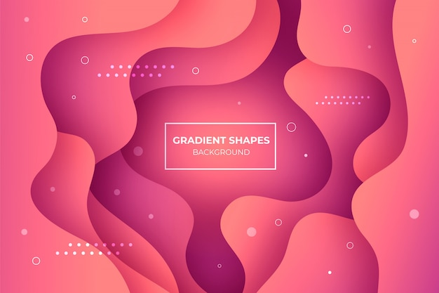 Coral gradient shapes background
