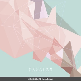 Coral and mint polygonal background