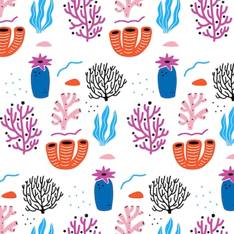 Coral pattern collection concept